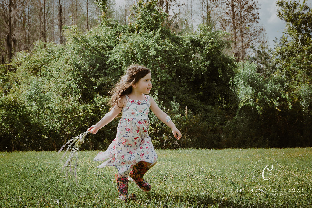 A Young, Carefree Girl Dancing