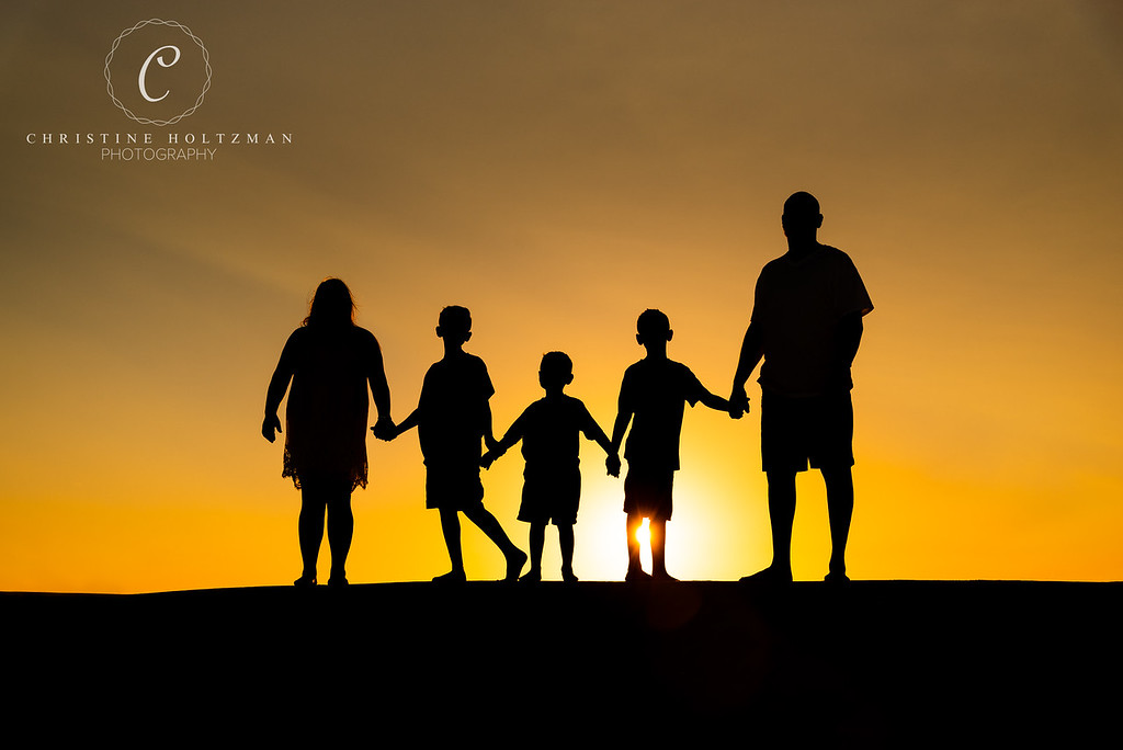 Silhouette Sunset, Family Session on St. Pete Beach