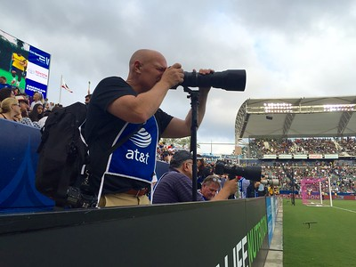 Photographing MLS Soccer.