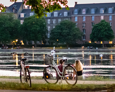 A pleasant evening by the Lakes, Copenhagen.