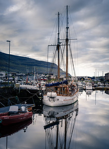 Six am Stillness, Klaksvik, Faroe Islands.  Something timeless about tall ships.