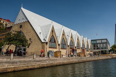 Fiskkyrkan, the fish church in Gothenburg. An indoor fish market.