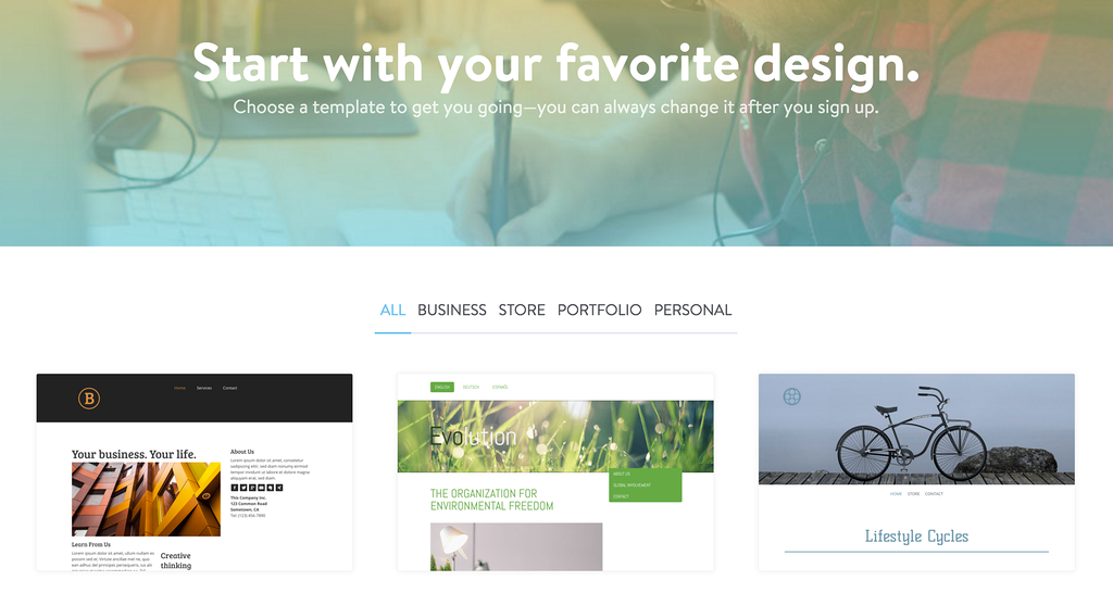 jimdo review image, make a photography website for free
