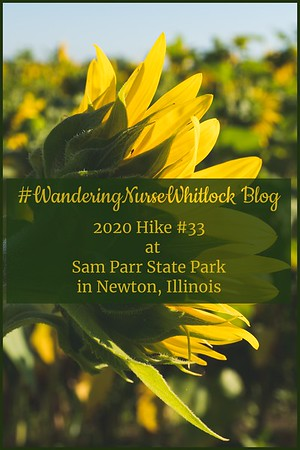 2020 Hike #33 on August 6th at Sam Parr State Park in Newton Illinois