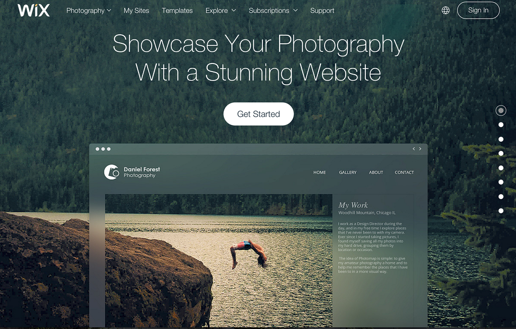 best websites for photographers review wix