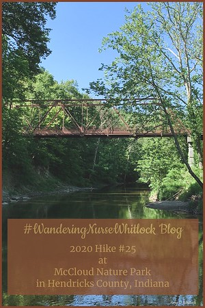 2020 Hike #25 on June 7th at McCloud Nature Park in Hendricks County Indiana