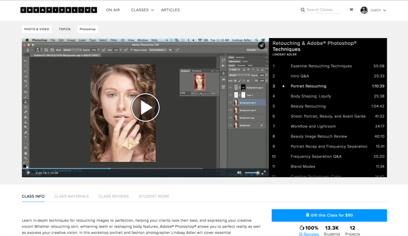 The Best Online Photoshop Courses for photographers - Photoshop Retouching for Portrait Photography