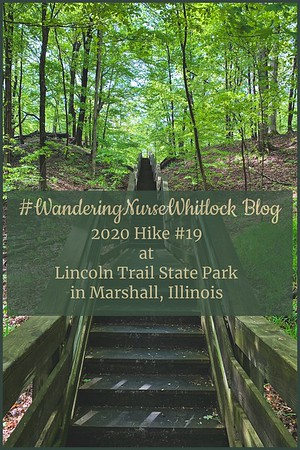 2020 Hike #19 on May 14th at Lincoln Trail State Park in Marshall Illinois