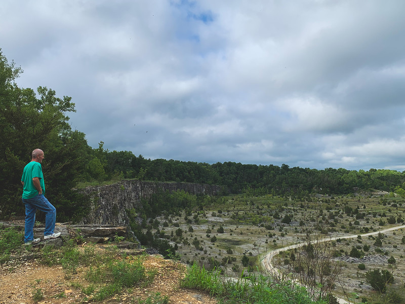 Tracy checking out the Quarry