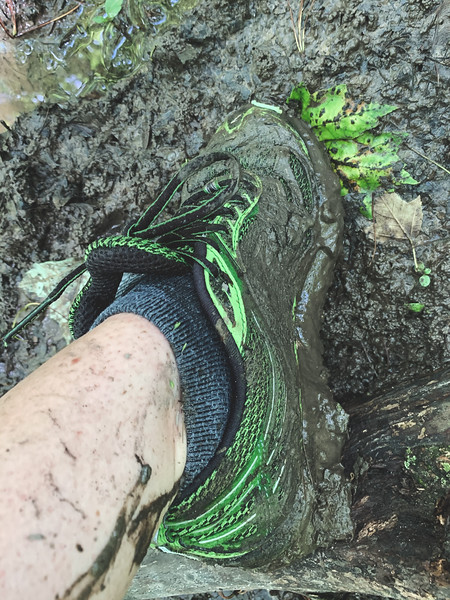 My shoes towards the end of the hike!