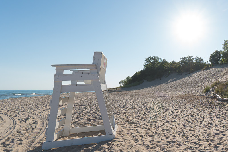 A Lifeguard Chair at the State Park