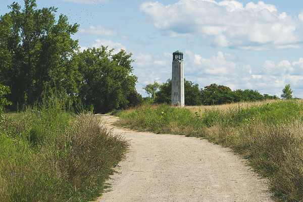 The Trail taking you to the Livingstone Memorial Lighthouse