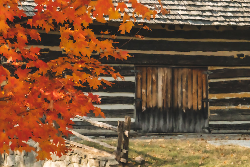 Fall color at the Barn