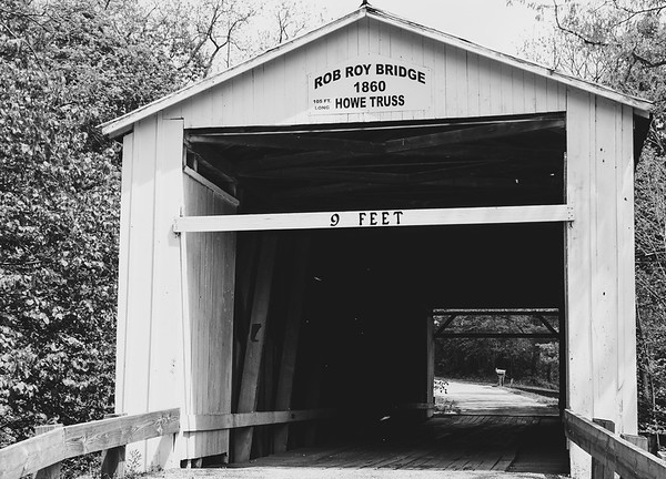 Rob Roy Covered Bridge in Fountain County Indiana