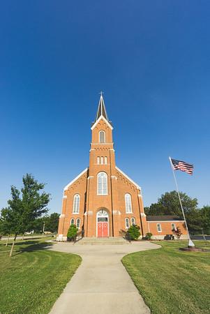 St. Aloysius Catholic Church in Dieterich Illinois