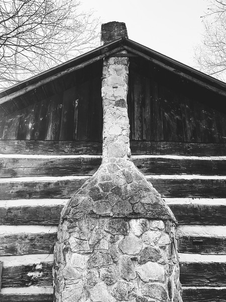 The chimney of the Sugar Cabin