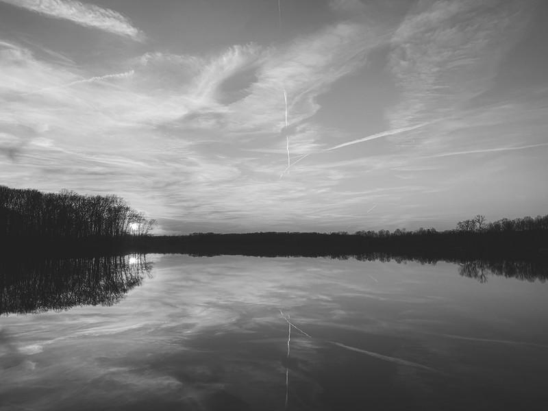 Sunset reflection on Lake Kickpoo