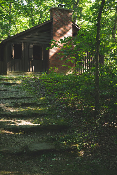 A Shelterhouse built by the CCC and a Stone Staircase
