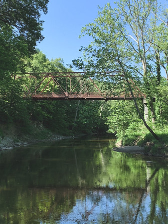 View of the Old Iron Truss Bridge