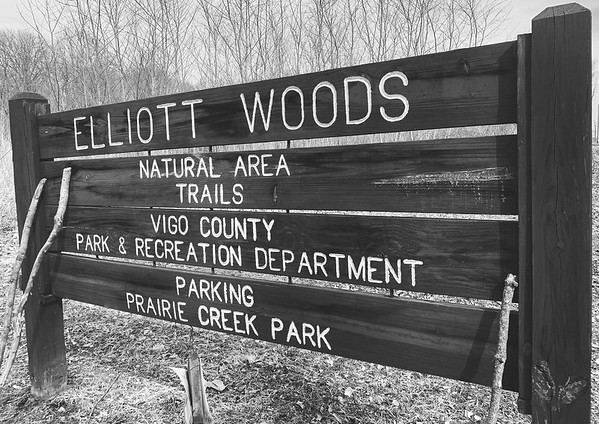 The Elliott Woods signage