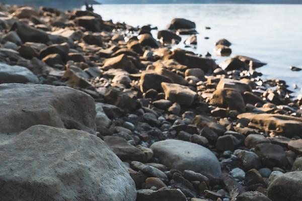 Rocks along the Lakeshore