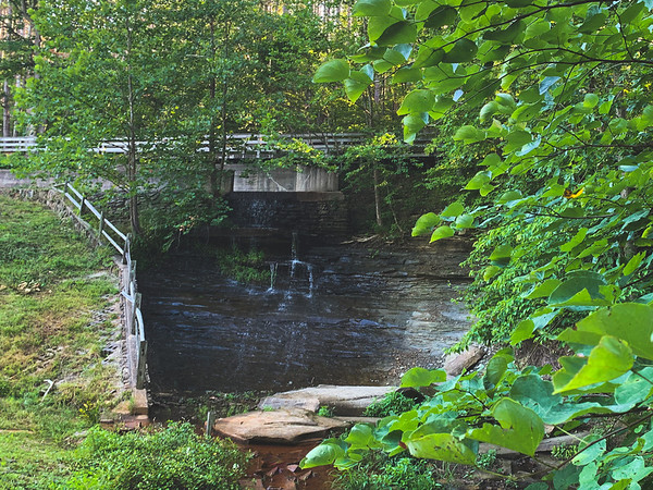 The Waterfall formed from Strahl Lake