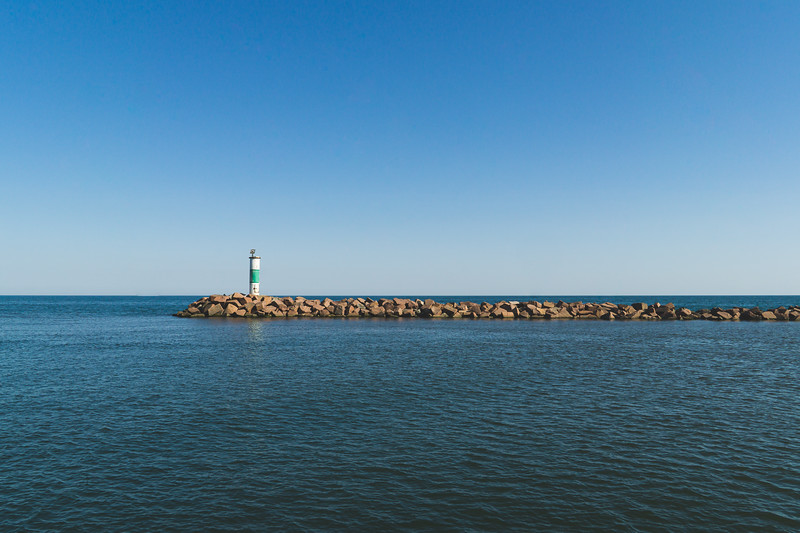 The Portage Breakwater Light