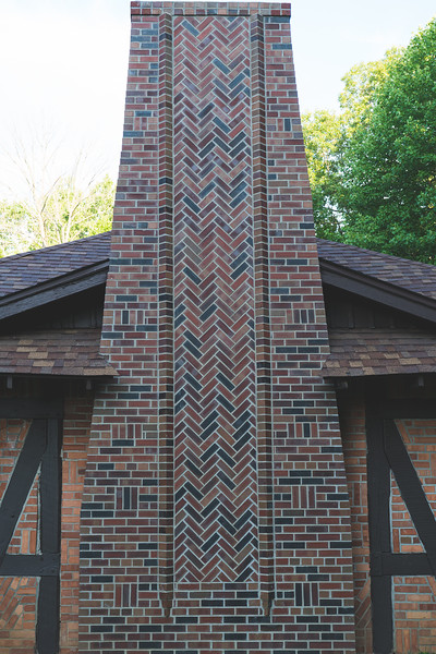 The brick detail on the chimney