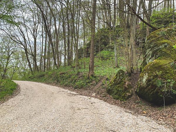 The Sandstone Cliffs along the gravel road