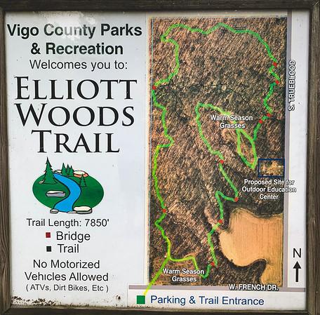 Elliott Woods Trail Sign