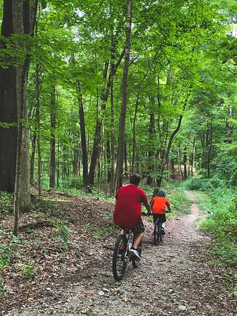 Bikers along Trail 6