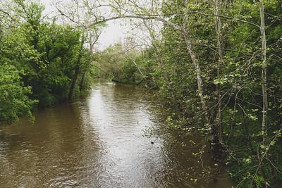 Coal Creek in Fountain County Indiana
