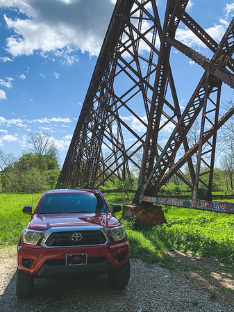 """The """"Taco"""" parked beside the Tulip Viaduct"""