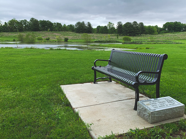 A Memorial Seat overlooking the Park
