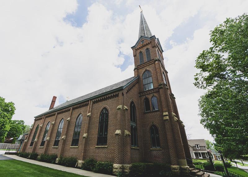 St. Frances Xavier Catholic Church in Attica Indiana
