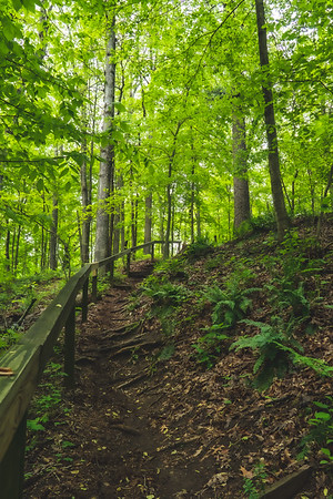 "Natural ""Stairs"" going down to the Arch"
