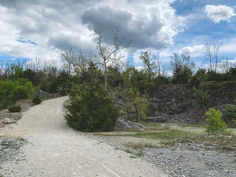 Hiking on the Quarry Trail