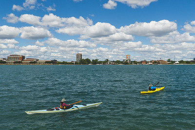 Some brave Kayakers (it was very windy)