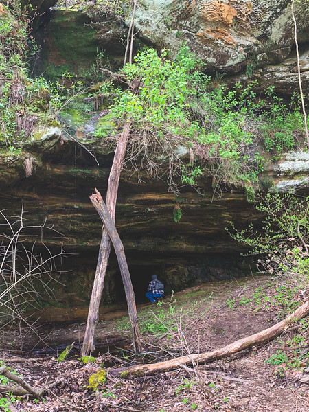 Tracy checking out the Cave
