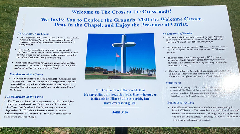The Cross at the Crossroads in Effingham Illinois
