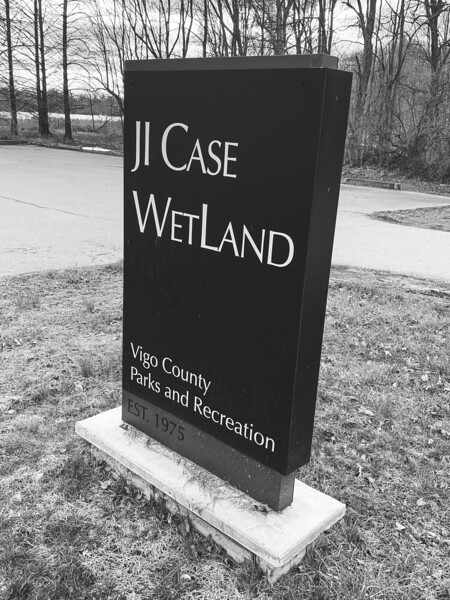 The J.I. Case Wetland Signage