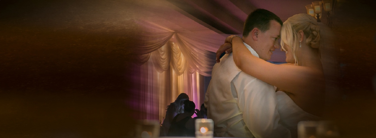 Bride and groom last dance.