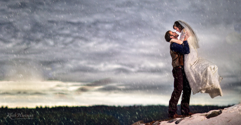 Congratulations to Brie & Nathan. They had an intimate wedding at a private cabin on Shaver Lake as the snow fell gently. Family and friends honored them at this beautiful spot. The Trading Post restaurant was closed to this reception's private party.  This panoramic photo was made right after there ceremony next to the lake.  A bit of snow did not cool off the romance.  5.0/5.0 Quality of Service: 5.0  Responsiveness: 5.0  Professionalism: 5.0  Value: 5.0  Flexibility: 5.0 Brianne said...  Keith and Paula were so great! They were friendly, professional, and above all, the pictures they took are incredible!! I would recommend them to everyone looking for a photographer!