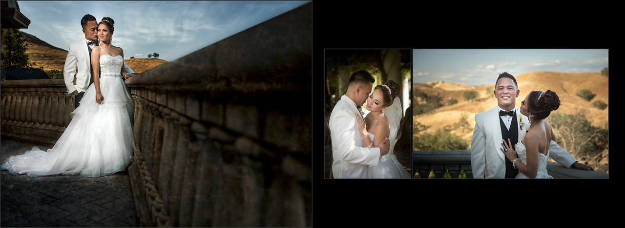 At the Clovis Castle with bride and groom