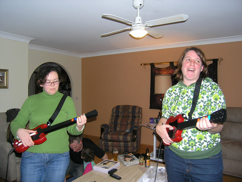 Laura and Holly on Guitar Hero
