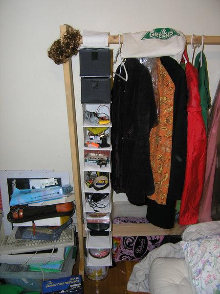 Organized my geek stuff using a shoe rack