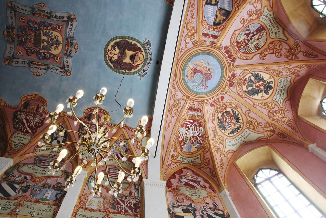 Painted chapel ceiling in Ljubljana Castle