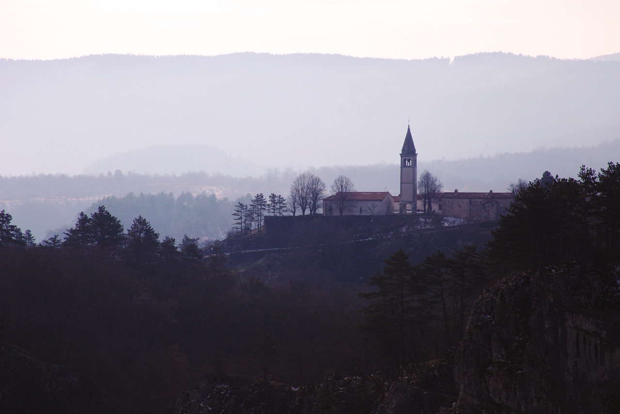 View from the trail to the Skocjan Caves
