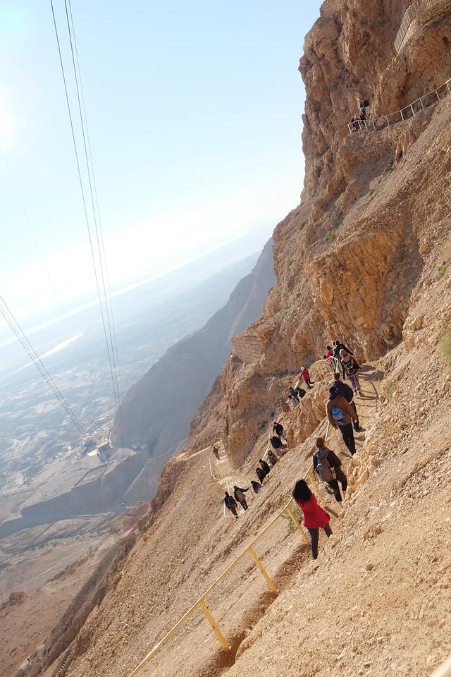 The snake path from Masada