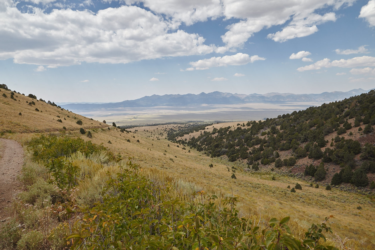 View of the Reese River Valley in Central Nevada, where the Yomba Shoshone Reservation is located.